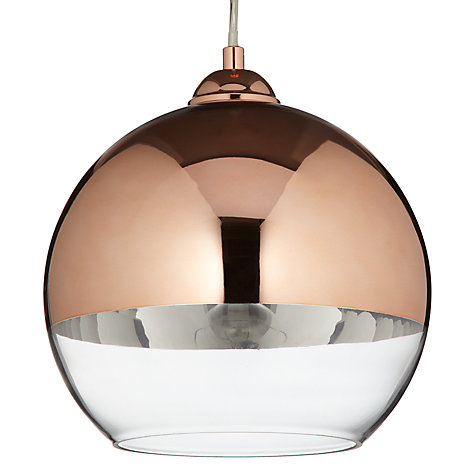 Buy John Lewis Celeste Ceiling Light, Copper, Small Online at johnlewis.com