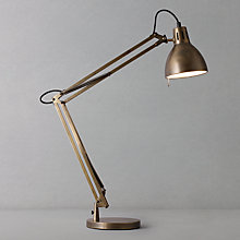 Buy John Lewis Court Aged Task Lamp, Brass Online at johnlewis.com