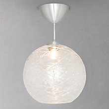 Buy John Lewis Frederik Crackle Semi-flush Light Online at johnlewis.com