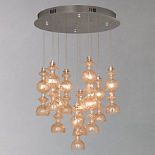 Buy John Lewis Hammond 10 Light Dangle Ceiling Light, Champagne Online at johnlewis.com