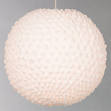 Buy John Lewis Easy-to-fit Kasa Ruche Fabric Shade, Large Online at johnlewis.com