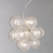 Buy John Lewis Matteo Glass Rib Balls Ceiling Light Online at johnlewis.com