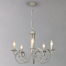 Buy John Lewis Rebecca Painted Ceiling Light, Grey Online at johnlewis.com