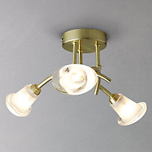 Buy John Lewis Stefan Semi Flush Ceiling Light, Brass Online at johnlewis.com