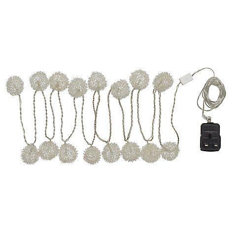 Buy Parlane Wire Ball Garland Line Light, White, x16 Online at johnlewis.com