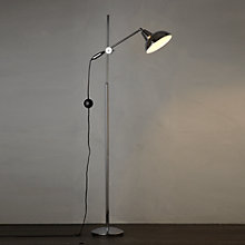 Buy John Lewis Brooklyn Floor Lamp, Silver Online at johnlewis.com