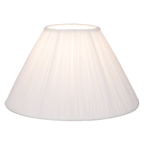 Buy John Lewis Coralie Chiffon Lamp Shade, White Online at johnlewis.com