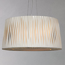 Buy John Lewis Puri Twist Pleat Ceiling Light, Soft Ivory Online at johnlewis.com