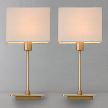 Buy John Lewis The Basics Ruby Duo Brass Table Lamp Online at johnlewis.com