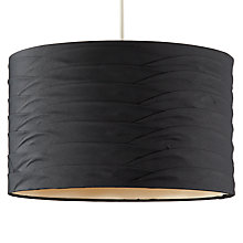 Buy John Lewis Sienna Pleat Lampshade, Black and Gold Online at johnlewis.com