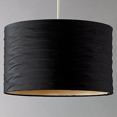 Buy John Lewis Sienna Pleat Drum Shade, Black and Gold Online at johnlewis.com