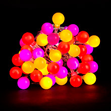 Buy House by John Lewis Festival Ball Indoor Line Lights, x40, Multi Online at johnlewis.com