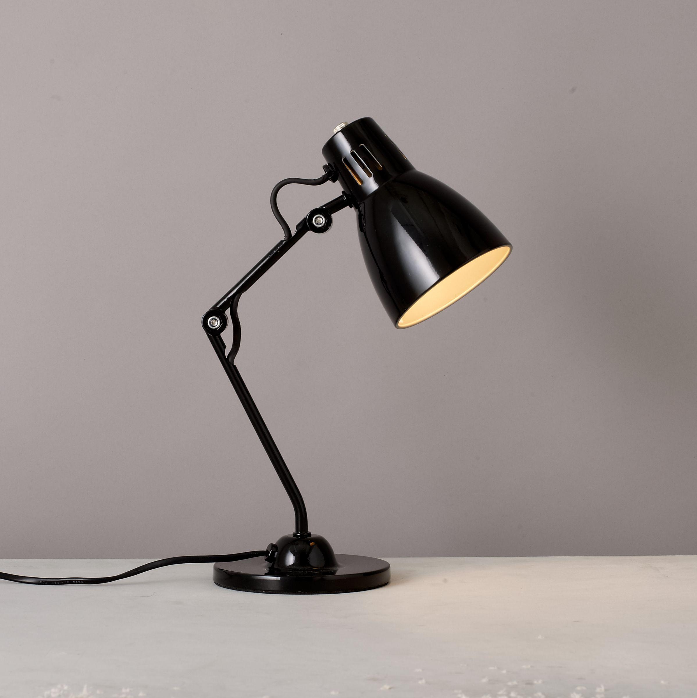 House by John Lewis Tony Task Lamp , Black