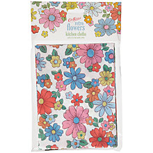 Buy Cath Kidston Retro Flowers Kitchen Cloths, Set of 6 Online at johnlewis.com