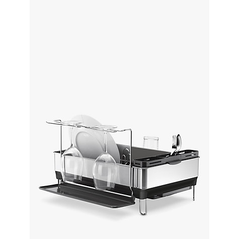 Buy simplehuman Steel Dish Drainer and Glass Holder Online at johnlewis.com