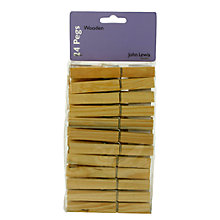 Buy John Lewis Wooden Clothes Pegs, Pack of 24 Online at johnlewis.com