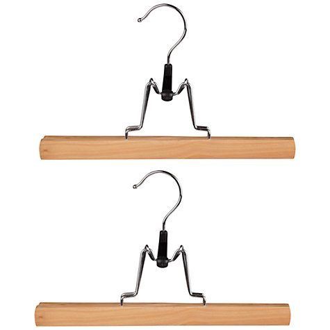 Buy John Lewis Eucalyptus Clamp Hangers, Pack of 2 Online at johnlewis.com