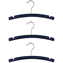Buy little home at John Lewis, Crescent Hangers, Pack of 3, Blue Online at johnlewis.com
