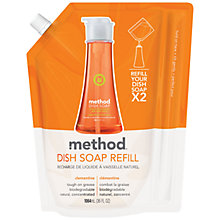 Buy Method Washing Up Liquid Refill, Clementine, 1064ml Online at johnlewis.com