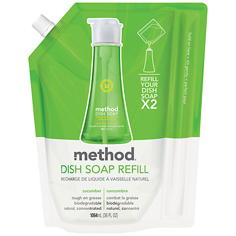 Buy Method Washing Up Liquid Refill, Cucumber, 1064ml Online at johnlewis.com