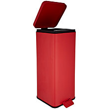 Buy House by John Lewis Pedal Bin, 30L, Red Online at johnlewis.com