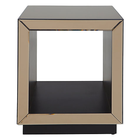 Buy John Lewis Astoria Mirrored Cube Side Table, Bronze Online at johnlewis.com