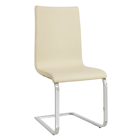 Buy John Lewis Frost Leather Dining Chairs Online at johnlewis.com