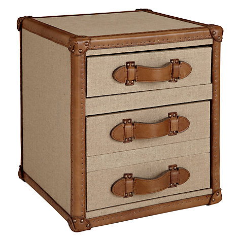 Buy John Lewis Landon Paris Chest, Leather Trim Online at johnlewis.com