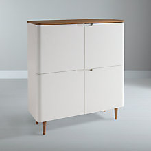 Buy Ebbe Gehl for John Lewis Mira 4-door Cupboard, White Online at johnlewis.com