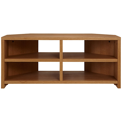 Buy John Lewis Velo Corner Television Stand for TVs up to 37-inch, Oak Online at johnlewis.com