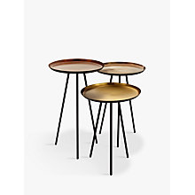 Buy Content by Terence Conran Accents Round Side Tables, Set of 3, Bronze Online at johnlewis.com