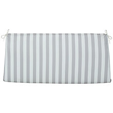 Buy John Lewis Henley by Kettler Garden Bench Cushion, White Online at johnlewis.com