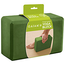 Buy Gaiam Yoga Block, Green Online at johnlewis.com