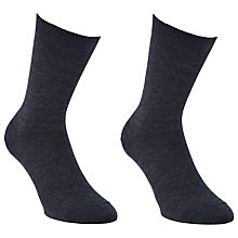 Buy John Lewis Merino Wool Ankle Socks, Pack of 2 Online at johnlewis.com