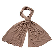Buy John Lewis Plain Knitted Scarf, Toast Online at johnlewis.com