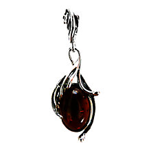 Buy Goldmajor Amber and Silver Leaf Pendant Online at johnlewis.com