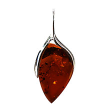 Buy Goldmajor Amber and Silver Pendant Online at johnlewis.com