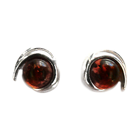 Buy Goldmajor Amber and Silver Round Earrings Online at johnlewis.com