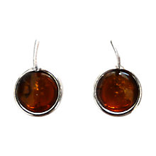 Buy Goldmajor Amber and Silver Round Drop Earrings Online at johnlewis.com
