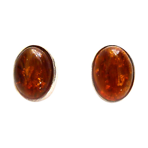 Buy Goldmajor Amber and Silver Stud Earrings Online at johnlewis.com