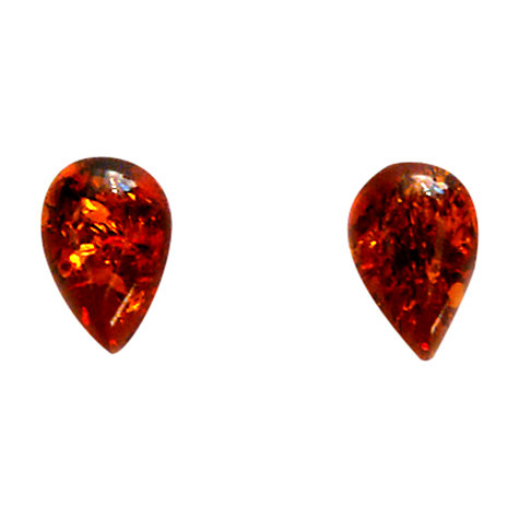 Buy Goldmajor Amber and Silver Teardrop Earrings Online at johnlewis.com
