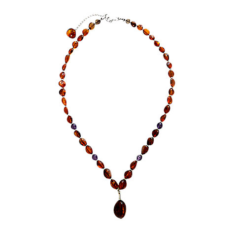 Buy Goldmajor Amber, Amethyst and Silver Collar Necklace Online at johnlewis.com