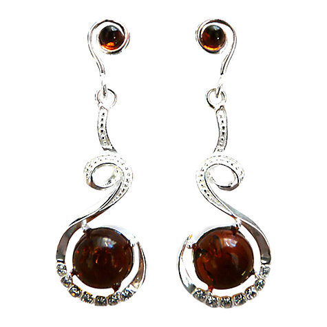 Buy Goldmajor Amber, Cubic Zirconia and Silver Drop Earrings Online at johnlewis.com