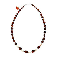 Buy Goldmajor Pearl Collar Necklace, Amber Online at johnlewis.com