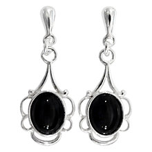 Buy Goldmajor Jet And Silver Drop Earrings, Black Online at johnlewis.com