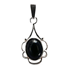 Buy Goldmajor Jet And Silver Pendant, Black Online at johnlewis.com