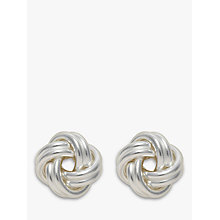 Buy Nina B Silver Medium Knot Stud Earrings, Silver Online at johnlewis.com