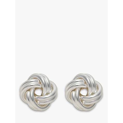 Buy Nina Breddal Silver Medium Knot Earrings, Silver Online at johnlewis.com
