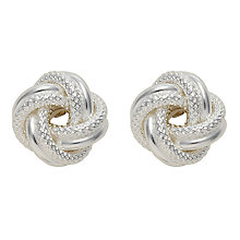 Buy Nina Breddal Silver Knot Twist Earrings, Silver Online at johnlewis.com