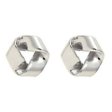 Buy Nina B Small Sterling Silver Folded Open Triangle Stud Earrings Online at johnlewis.com